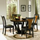102091-92 Boyer 5pc  Dining Set in Cherry-Black Finish
