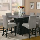 102068-69 Stanton Counter 9pc Dining Set with Gray Chairs