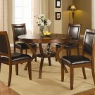 102171-72 Nelms 5pc  Dining Set in Brown Walnut Finish