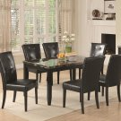 102791-72 Anisa 7pc Rectangular Dining Set with BLack Chairs by Coaster