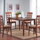 101771-72 Walnut Finish 5PC Dining Set