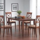 101771-74 Walnut Finish 5PC Dining Set