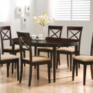 100770-74 Cappuccino Finish 7PC Dining Set