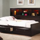 400410T Phoenix Twin Daybed with Bookcase & Storage by Coaster