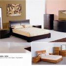 Maya Queen Size 5pc Bedroom set Espresso or Teak Finish
