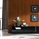 JM-TV027 TV Stand in Black High Gloss Finish