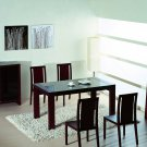 Reflex  Modern 5pc Dining Set in Wenge with Glass Insert