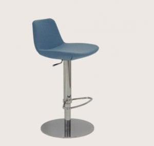 Pera Swivel Bar or Counter stool in Wool by BNT