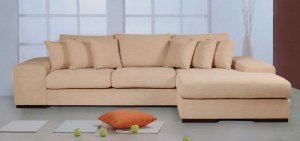 Katz Beige Fabric Sectional Sofa