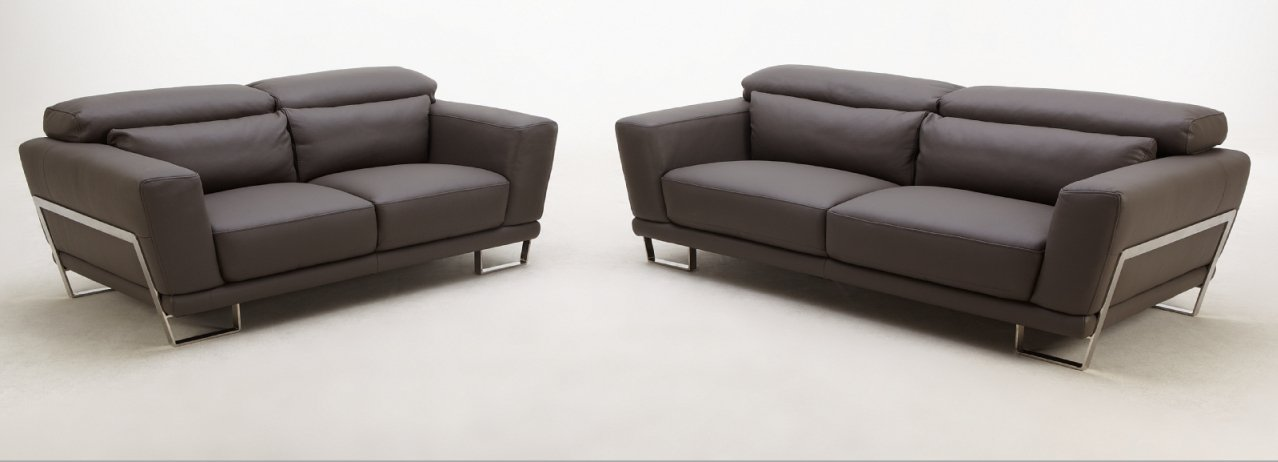 Exos Full Leather 3pc Sofa Set  by Beverly Hills Furniture