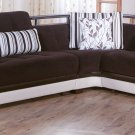 Natural Modern Sectional Sofa Bed in Colins Brown Color by Sunset
