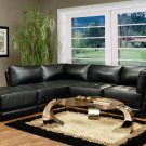 Kayson 5pc Black Bonded Leather Sectional
