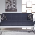 Duru Sofa Bed with Storage in Cozy Gray