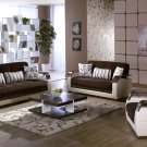 Natural 3pc Sofa Set in  Colins Dark Brown