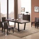 Class Modern 7pc Dining Set in Dark Oak Finish