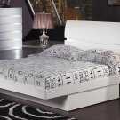 Aurora White King Size  Platform Bed by Global