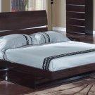 Aurora Wenge Full Size  Platform Bed by Global