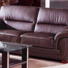 Sienna Brown or Black Leather Sofa