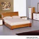 Maya Queen Size 5pc Bedroom set Cherry/White Finish