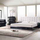 Milan Queen Size 5pc Bedroom Set in Black Finish