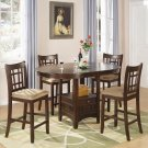 102888-89 Lavon Cherry Counter Height 5pc Dining Set