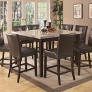 103778-779 Milton Marble Venner 9pc Counter Height Dining Set