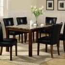 120310-4077 Faux Marble 7pc Dining Set