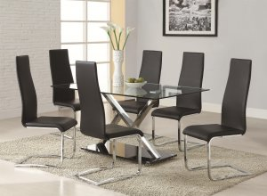 120320-100515-BLK 7pc Dining Set by Coaster