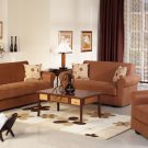 Elita  Brown Microfiber 3pc Sofa Set