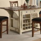 102271-72 Counter Height Kitchen Island 5pc Dining Set