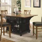 102270-72 Counter Height Kitchen Island 5pc Dining Set