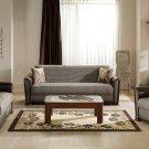 Alfa 3pc Convertible Sofa Set in Redeyef Brown