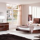 Status Walnut Finish Queen Size 5pc Bedroom Set