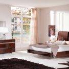 Status Walnut Finish King Size 5pc Bedroom Set