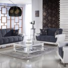 Duru 3pc Convertible Sofa Set in Cozy Gray