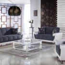 Duru 3pc Convertible Sofa Set in Cozy Gray