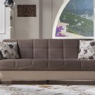 Trento Selen Brown Sofa Bed by Sunset