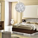 Modern Style Onda Walnut Finish 5pc King Bedroom Set
