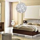 Modern Style Onda Walnut Finish 5pc King Bedroom Set