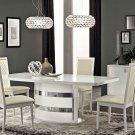 Modern Roma 5PC Dining Set in White