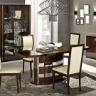 Modern Roma 5PC Dining Set in Walnut
