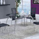 D1057 Black 5Pc Dining Set