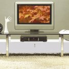 7424 White Modern Glass-Wood TV Stand