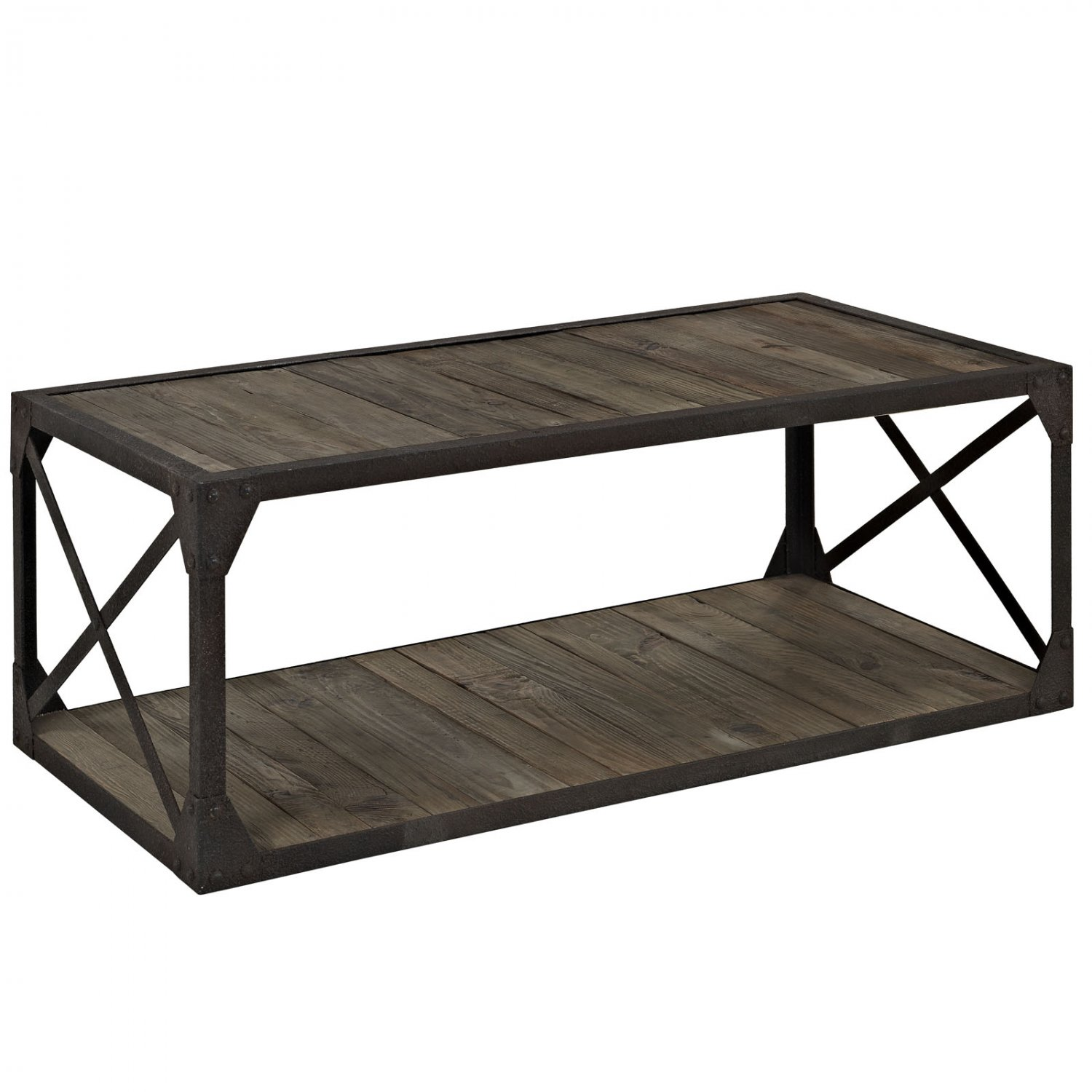Mathew industrial style coffee table for Coffee tables industrial