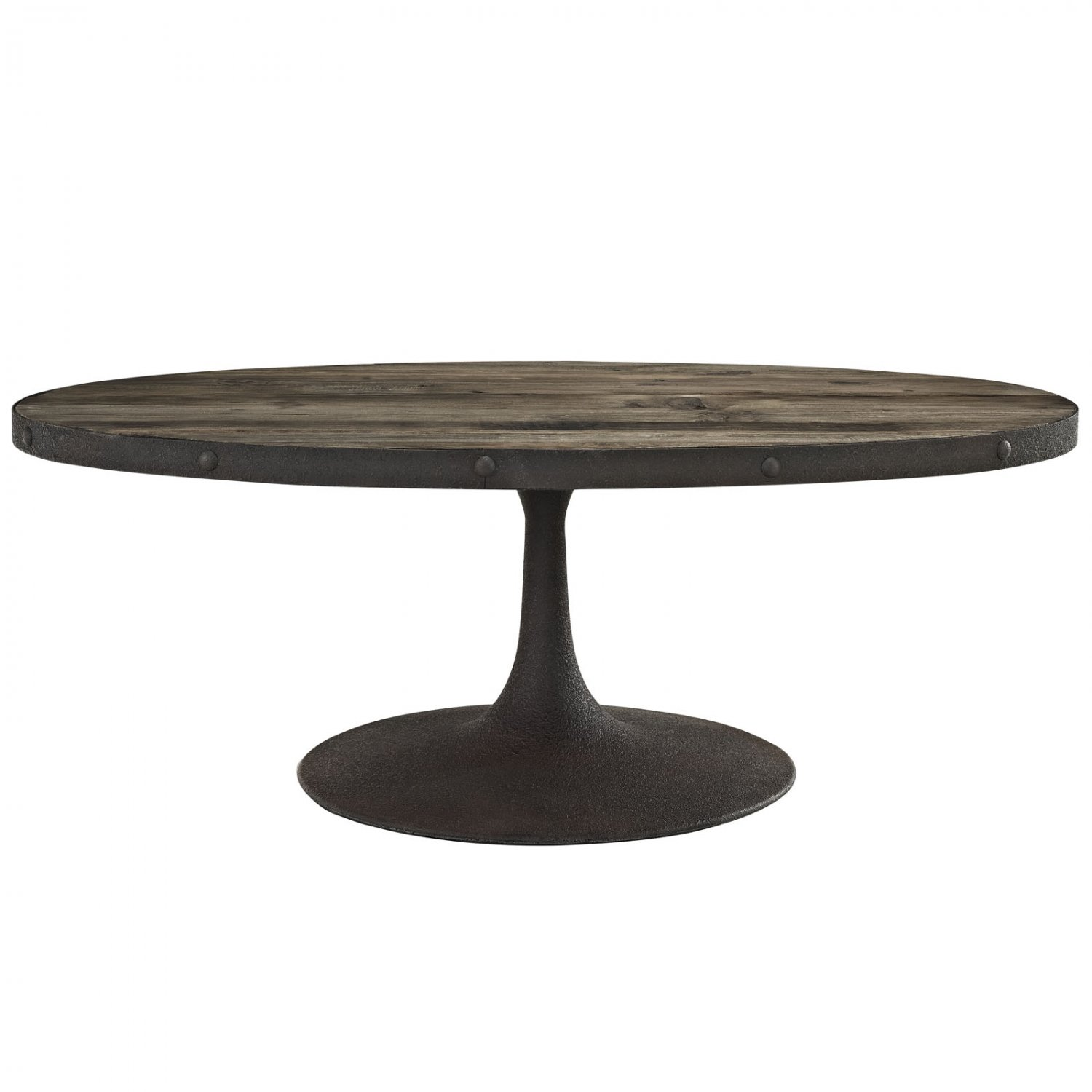 Maia Oval Industrial Coffee Table