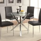 760 Modern 5 Piece Dining Set with Black Chair