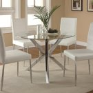760 Modern 5 Piece Dining Set with White Chair