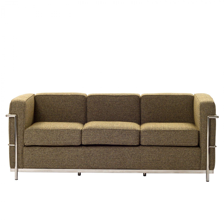 le corbusier style sofa oatmeal. Black Bedroom Furniture Sets. Home Design Ideas