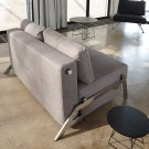 Cubed Full Size Sofa Bed Light Grey Fabric