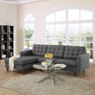 Lola Small Sectional Sofa Gray